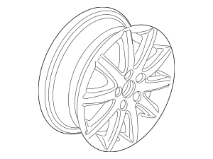 2010-2017 Volkswagen Jetta Wheel, Alloy 1K0-601-025-CQ-8Z8