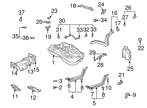 FUEL SYSTEM COMPONENTS for 2002 Toyota Highlander