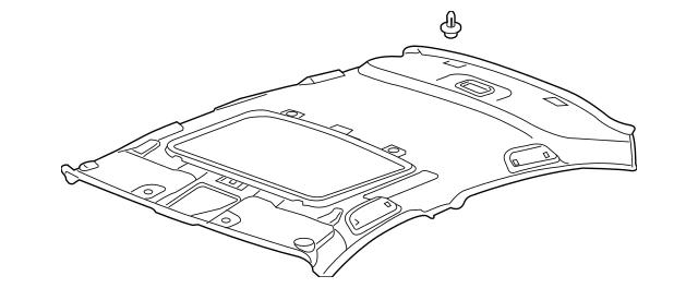 2008-2012 Honda ACCORD SEDAN Lining Assembly, Roof *YR327L