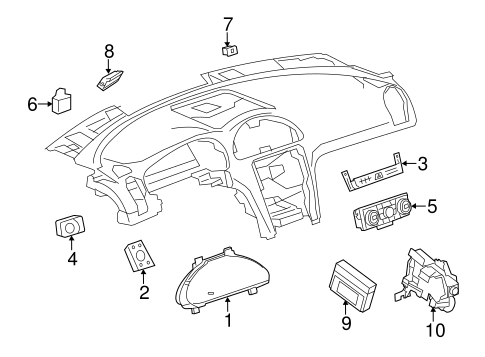 HEADLAMP COMPONENTS Parts for 2014 Buick Enclave