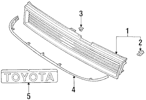 Genuine OEM GRILLE Parts for 1992 Toyota Corolla Base