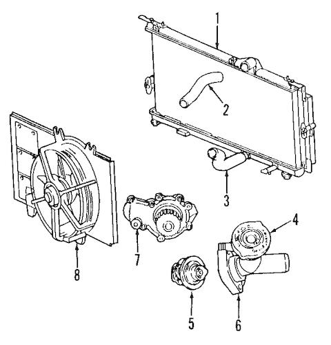 Dodge Cooling System Cooling System parts for a 2005 Dodge