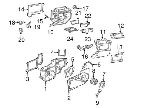 OEM 1998 GMC Savana 2500 Heater Components Parts