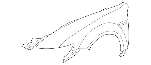 2004-2008 Acura TL SEDAN Panel Set, R Front Fender (DOT
