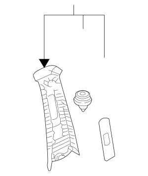 2004-2006 Kia Sorento Upper Center Pillar Trim 85824