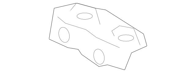 2003-2007 Honda Bracket, R Rear Bumper Side 71505-SDA-A00