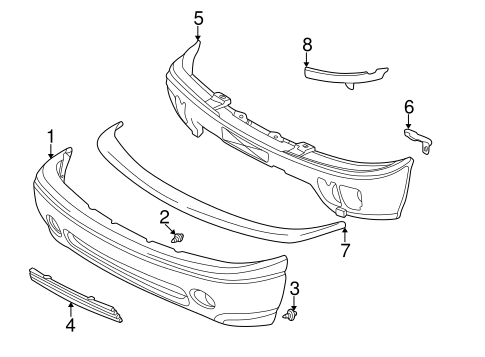 Service manual [2005 Gmc Yukon Xl 1500 Front Bumper Cover