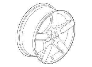 2010-2015 Chevrolet Camaro Wheel, Alloy 92197468