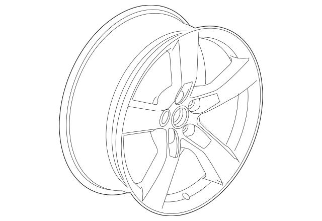 2010-2012 Chevrolet Camaro Wheel, Alloy 92230892