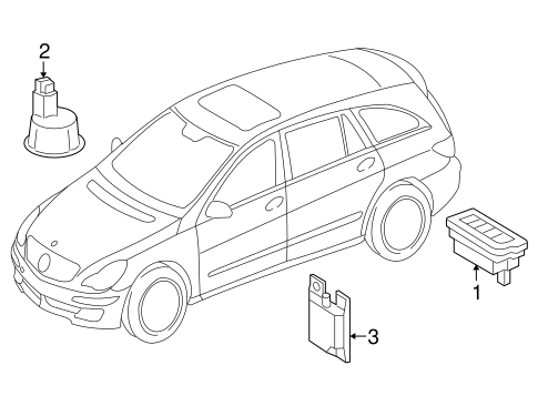 Electrical Components for 2007 Mercedes-Benz R 320
