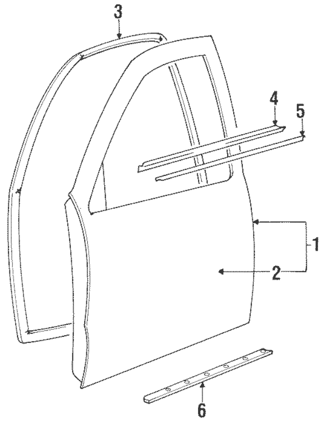 1995-2002 Kia Sportage Door Weather-Strip 0K018-58760B