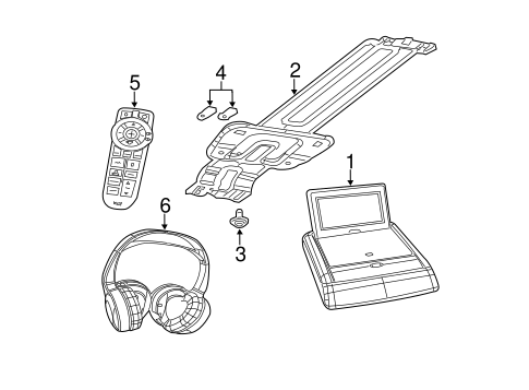 Entertainment System Components for 2008 Jeep Grand