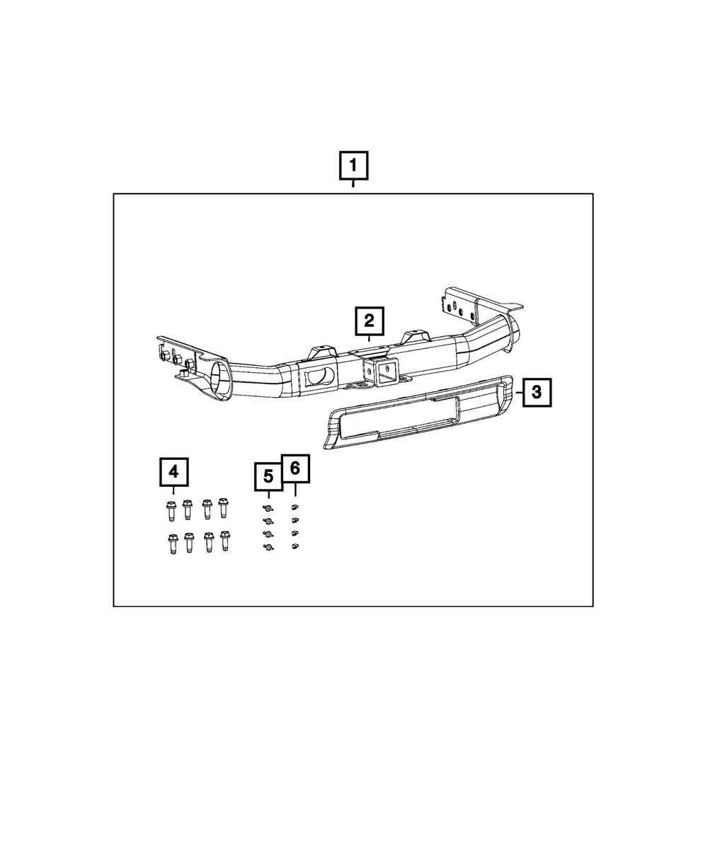 Genuine Mopar Tow Hitch Receiver Class Iv Bezel 82212180AD