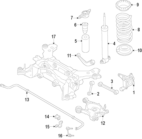 REAR SUSPENSION for 2014 Ford Fusion