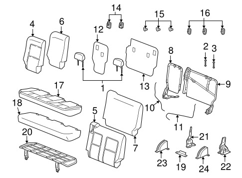 OEM REAR SEAT COMPONENTS for 2006 Saturn Vue