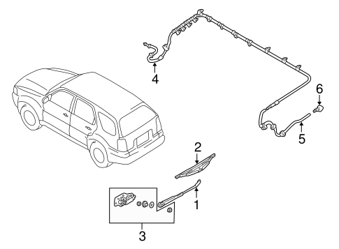 Wiper & Washer Components for 2005 Mercury Mariner