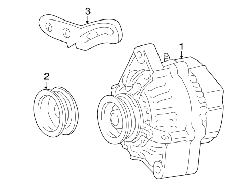 Genuine OEM Alternator Parts for 2003 Toyota Echo Base