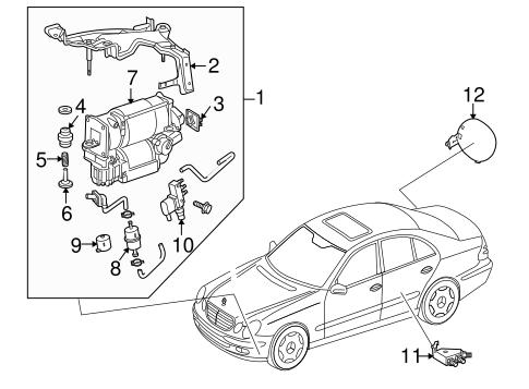 Ride Control Components for 2007 Mercedes-Benz CLS 550