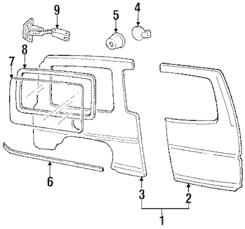 OEM 1996 Chevrolet Lumina APV Side Panel Parts