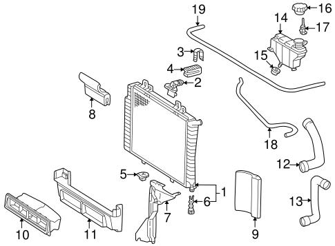 Radiator & Components for 1999 Mercedes-Benz CLK 320