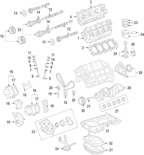 Genuine OEM Engine Parts for 2006 Toyota Tundra SR5