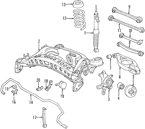 REAR SUSPENSION for 1999 Mercedes-Benz E320