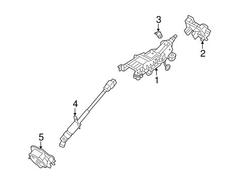 Steering Column Assembly for 2007 Ford Freestyle
