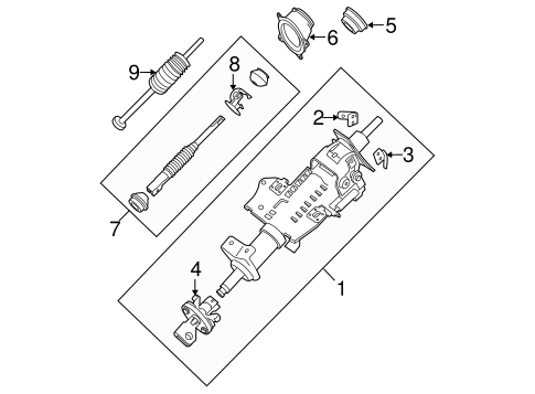 Steering Column Assembly for 2008 Nissan Frontier
