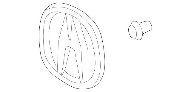 1999-2001 Acura RL SEDAN Emblem, Rear (A) 75701-SZ3-A10