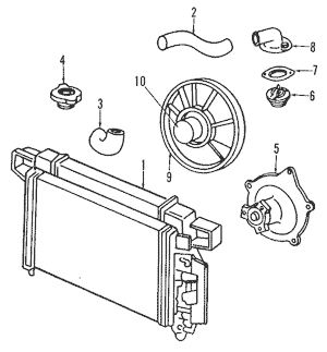 Radiator & Components for 1997 Chrysler Concorde