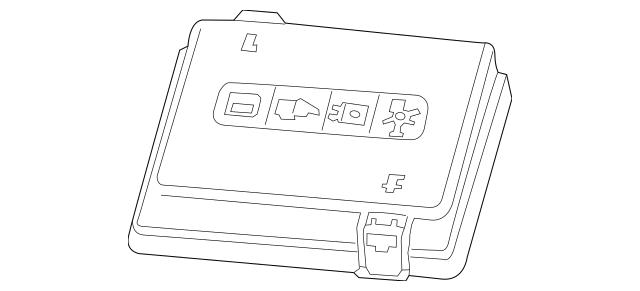 gm fuse box cover 19116372
