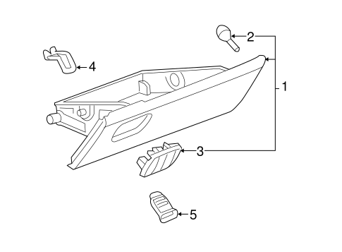 GLOVE BOX Parts for 2005 Chevrolet Equinox