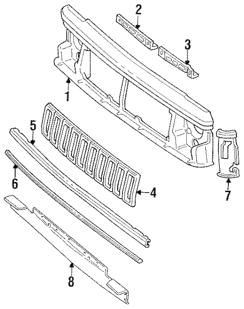 FRONT PANEL for 1988 Jeep Cherokee