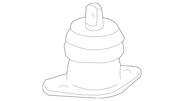 Original Rubber Assembly, Engine Side Mounting for 2009