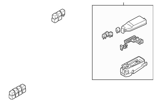 2002-2006 Mazda MPV Fuse Box Main LD47-66-760