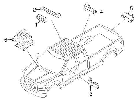 Keyless Entry Components for 2015 Ford F-150