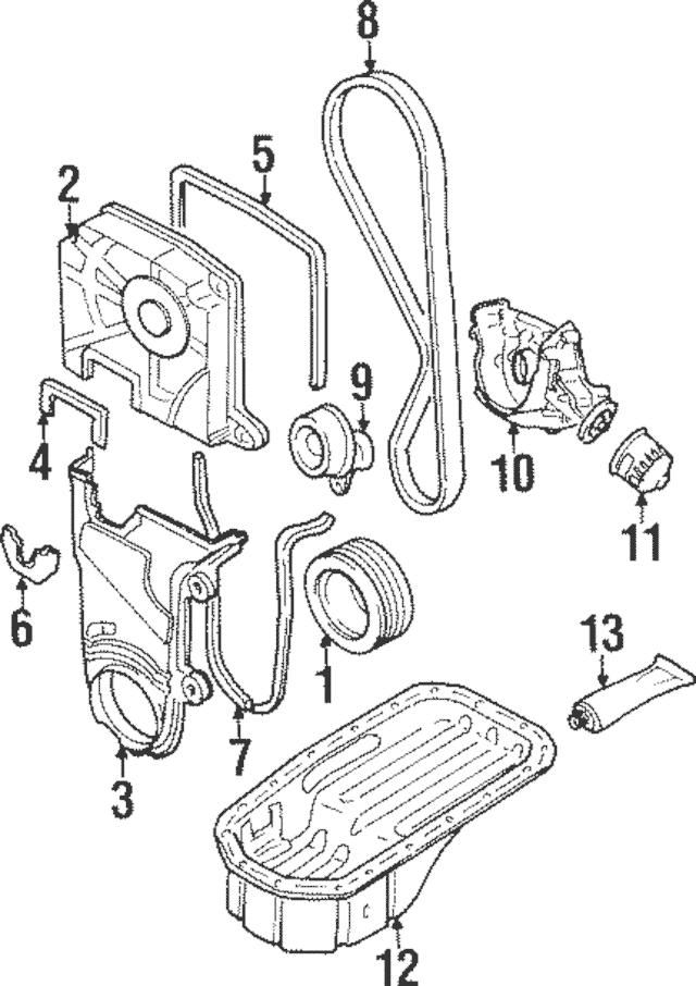 1996-2011 Hyundai Accent Timing Belt 24312-26050