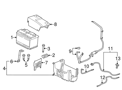 Battery & Related Components for 2014 Chevrolet Impala