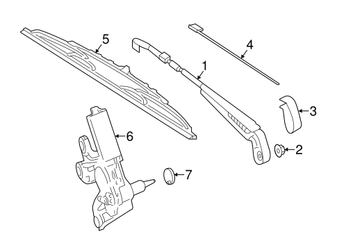 WIPER & WASHER COMPONENTS for 2015 Mercedes-Benz Sprinter