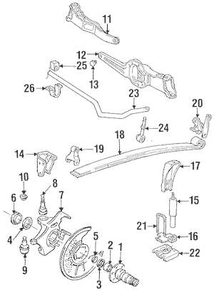 Suspension Components for 1997 Ford F-250 HD