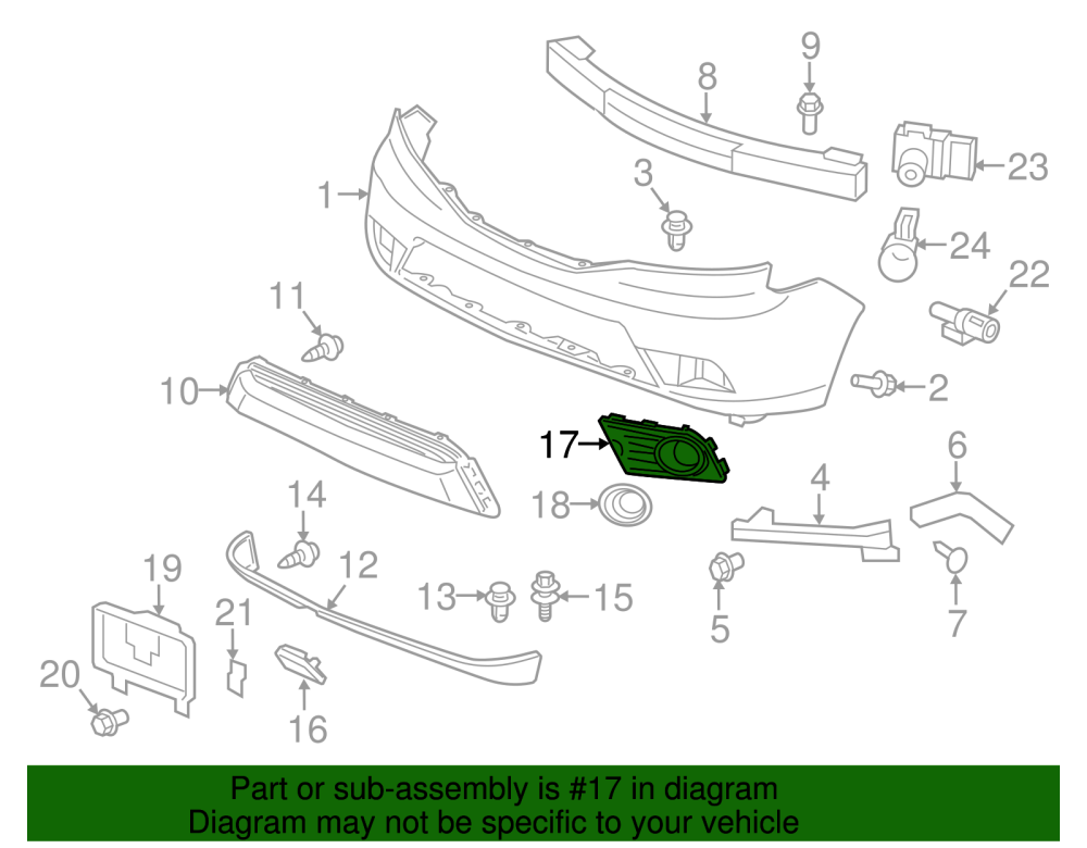 medium resolution of genuine 12 15 honda pilot left front fog