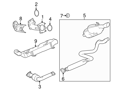 OEM Exhaust Components for 2008 Chevrolet Cobalt