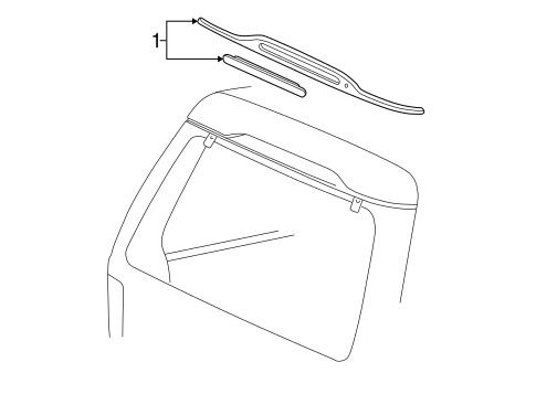 HIGH MOUNTED STOP LAMP for 1996 Ford Explorer