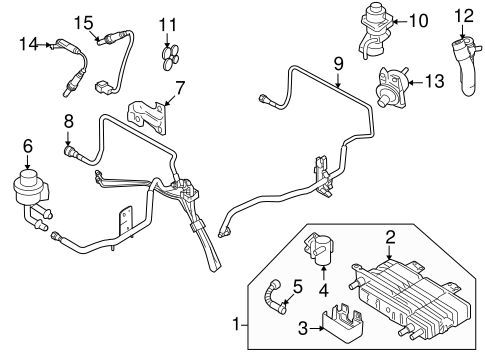 EMISSION COMPONENTS for 2007 Ford Fusion
