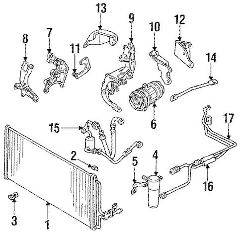 OEM 1992 Oldsmobile Cutlass Supreme Condenser, Compressor