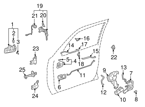 2001 Camry Parts Diagram