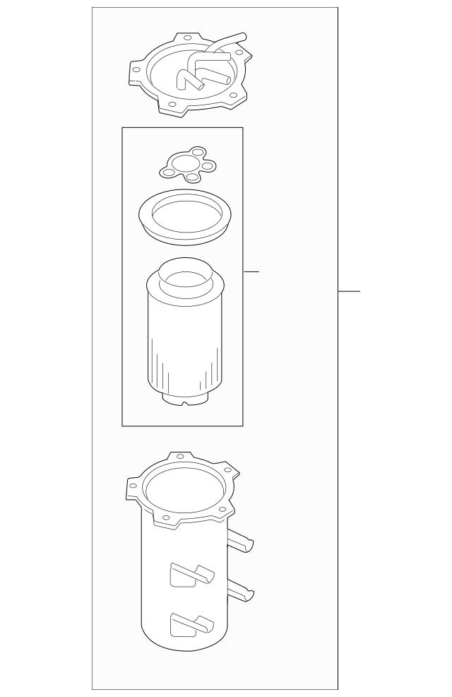 Genuine OEM Fuel Filter Part# 1K0-127-400-N Fits 2015