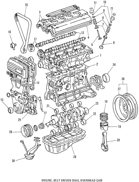 Genuine OEM Engine Parts Parts for 1986 Toyota Corolla