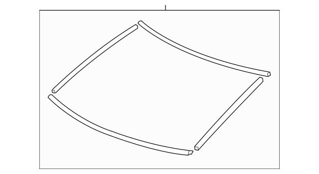 2006-2011 Honda CIVIC COUPE Rubber Set, Rear Windshield