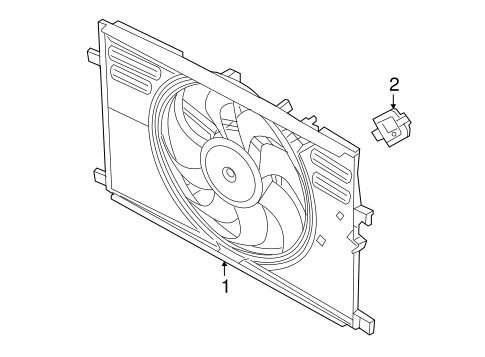 COOLING FAN for 2016 Jeep Renegade